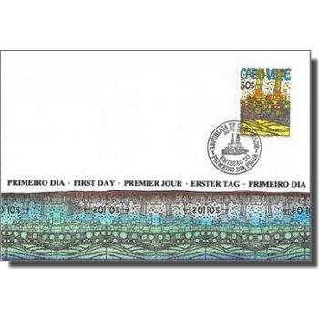 """Friedensreich Hundertwasser """"Schifffahrt"""" - Ersttagsbrief, Katalog-Nr. 498, Kap Verde"""