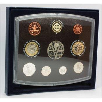 Kursmünzensatz 2001 Polierte Platte, Großbritannien