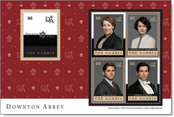 Mrs. Highes, Coutess of Grantham, Tom Branson, Thomas Barrow.