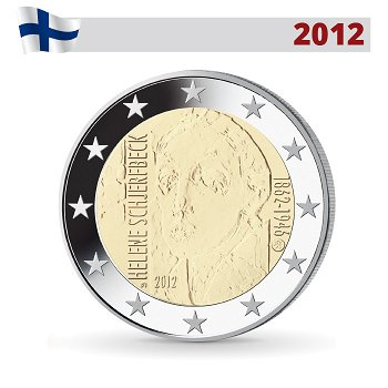 150. Geburtstag Helene Schjerfbeck, 2 Euro Münze 2012, Finnland