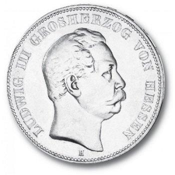 5 Mark Silbermünze, Großherzog Ludwig III., Katalog-Nr. 67, Großherzogtum Hessen