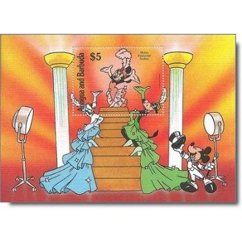 Produktion von Walt-Disney-Zeichentrickfilmen - Briefmarken-Block postfrisch, Antigua Barbuda
