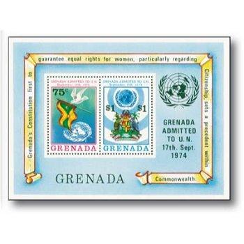 Beitritt zur UNO - Briefmarken-Block postfrisch, Grenada