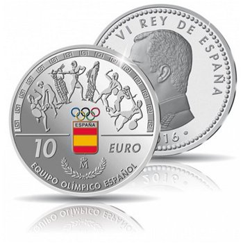 Sommerspiele 2016 Rio - Team Spanien, 10 Euro Silbermünze, Spanien