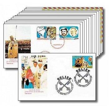 Papst Johannes Paul II. - 14 Reisebelege, Mittelamerika
