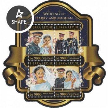 Königliche Hochzeit: Prinz Harry und Meghan Markle - Briefmarken-Block postfrisch, Sierra Leone