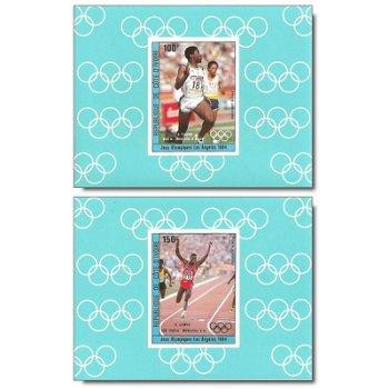 Sieger der Olympischen Spiele 1984, Los Angeles - 4 Luxusblocks postfrisch, Katalog-Nr. 838B-841B, E