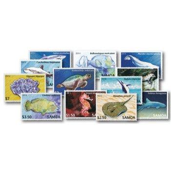 Gefährdete Tierarten - 12 Briefmarken postfrisch, Samoa