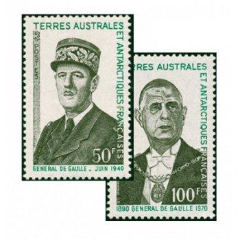 1. Todestag de Gaulles - 2 Briefmarken postfrisch, Katalog-Nr. 75-76, TAAF