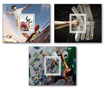 Sportmarken 2020 - 3 Farbsonderdrucke postfrisch, Deutschland