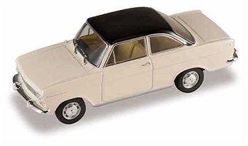 Modellauto:Opel Kadett A Coupé von 1963, weiß-schwarz(Starline Models, 1:43)