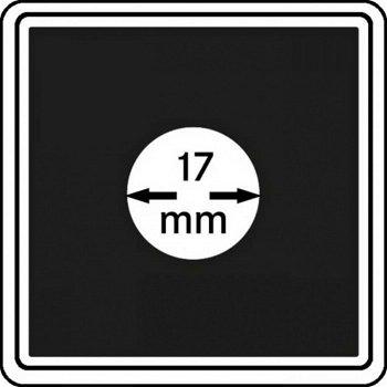 Münzkapseln CARRÉE 17 mm, 4er Pack, LI 2240017