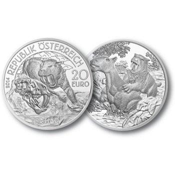 20 Euro Silbermünze Lebendige Urzeit - Tertiär, Österreich