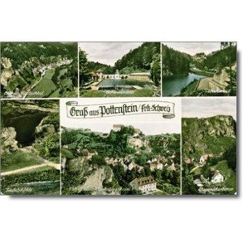 """8573 Pottenstein/Oberfranken - Postkarte """"Sehenswürdigkeiten"""""""