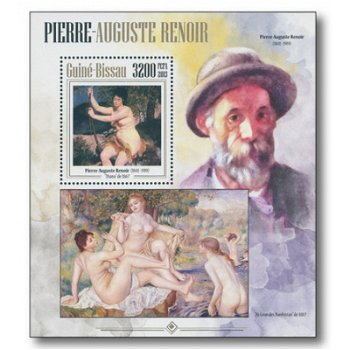 Renoir Gemälde - Briefmarken-Block postfrisch, Guinea-Bissau