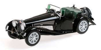 Modellauto:Mullin Automotive Museums Modell:Bugatti Type 54 Roadster von 1931, schwarz(Minichamps, 1