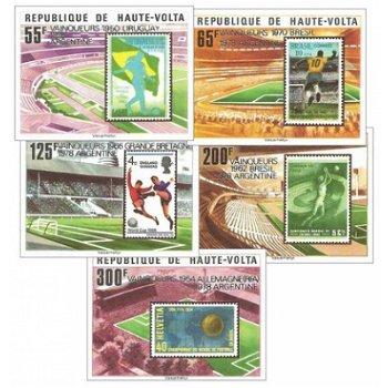 Fußball-Weltmeisterschaft 1978, Argentinien – Briefmarken postfrisch, ungezähnt, Katalog-Nr. 740-744