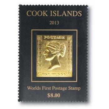 Penny Black - Briefmarke postfrisch, ungezähnt, Cook Inseln