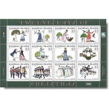Die zwölf Weihnachtstage – Kleinbogen postfrisch, Marshall-Inseln