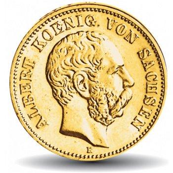 20 Mark Goldmünze König Albert, Katalog-Nr. 264, Königreich Sachsen