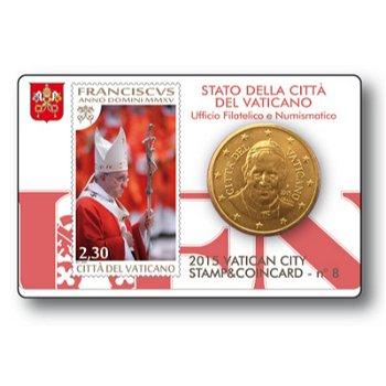 Papst Franziskus, Stamp & Coincard Nr. 8, Vatikan