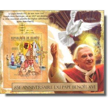 Papst Benedikt XVI. - Briefmarken-Block postfrisch, Guinea