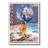 50 Jahre Mondlandung - Briefmarke postfrisch, Monaco