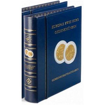 Münzalbum Classic OPTIMA, Europas 2-Euro-Gemeinschaftsausgaben, inkl.Schutzkassette, blau, Leuchttur