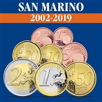 San Marino - Kursmünzensätze alle Jahrgänge 2002-2019