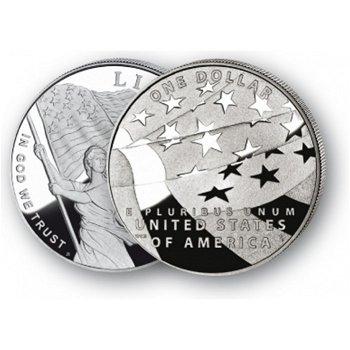 Sternenbanner - Silberdollar 2012, 1 Dollar Silbermünze, USA