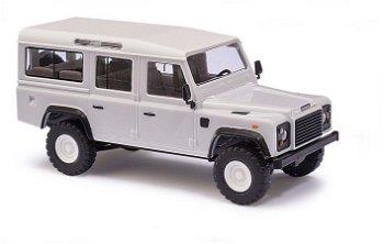 Modellauto:Land Rover Defender, weiß(Busch, 1:87)