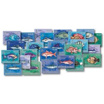 Fische - 25 Briefmarken postfrisch, Salomon-Inseln