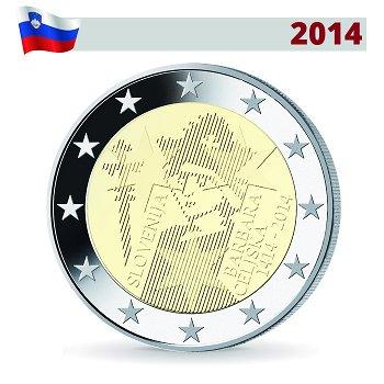 Krönung Barbara von Cilli, 2 Euro Münze 2014, Slowenien