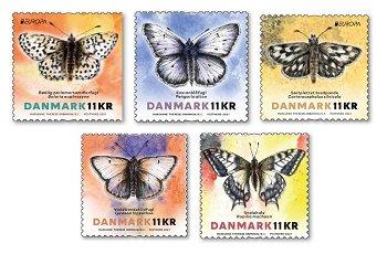 Europa 2021: Gefährdete nationale Tierwelt - 5 Briefmarken postfrisch, Dänemark