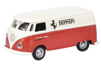 Modellauto:VW T1c KastenwagenFerrari Automobiles - Francorchamps -(Schuco, 1:87)