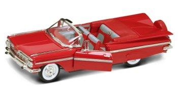 Modellauto:Chevrolet Impala Cabriolet von 1959, rot(Yat Ming, 1:18)
