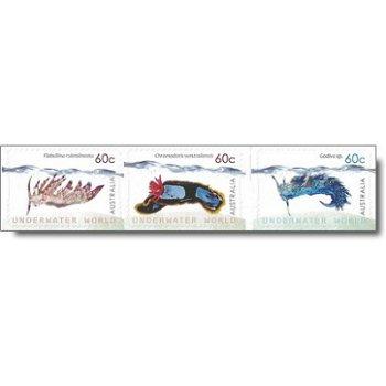 Unterwasserwelt: Nacktkiemer – Briefmarken postfrisch, Katalog-Nr. 3749-3751, Australien