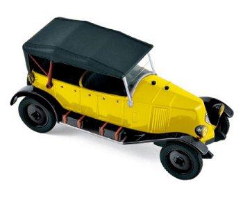 Modellauto:Renault Type NN Torpedo von 1927, gelb-schwarz(Norev, 1:43)