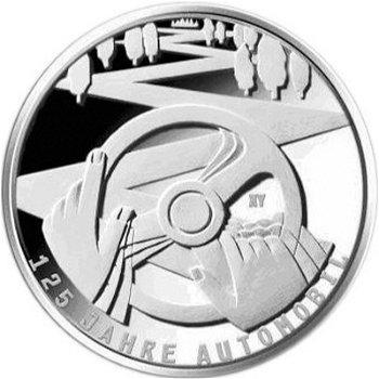 125 Jahre Automobil, 10-Euro-Silbermünze 2011, Polierte Platte