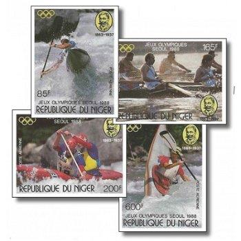 Olympische Sommerspiele 1988 - 4 Briefmarken ungezähnt postfrisch, Katalog-Nr. 1049-1052, Niger