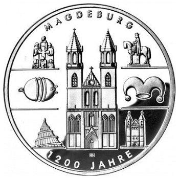 1200 Jahre Magdeburg, 10-Euro-Silbermünze 2005, Stempelglanz
