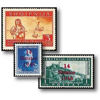 Das Land der Skipetaren - 21 Briefmarken postfrisch, Katalog-Nr. 1 - 21, Deutsche Besetzung Albanien