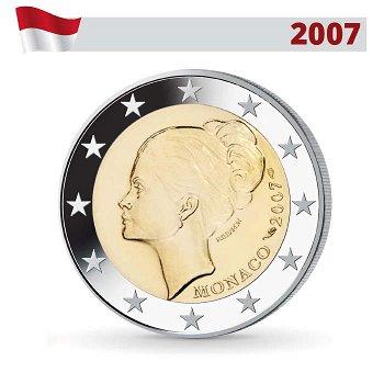 Grace Kelly - Fürstin Gracia Patricia, 2 Euro Münze 2007, Monaco