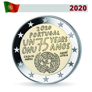 75 Jahre Vereinte Nationen - 2 Euro Münze 2020, Portugal