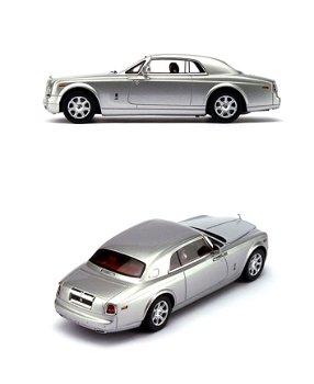 Modellauto:Rolls-Royce Phantom Coupé von 2009, silber(TSM, 1:43)