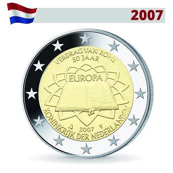 2 Euro Münze 2007, 50 Jahre Römische Verträge, Niederlande