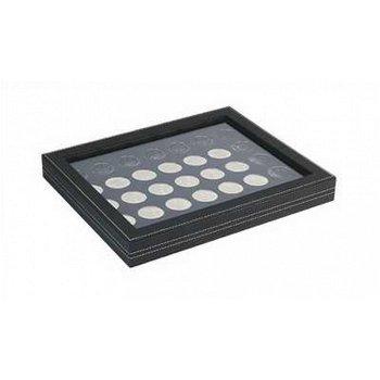 Nera Münzkassette M mit Sichtfenster für 20 Euro Münzen, Münzeinlage schwarz, Lindner 2367-2111CE