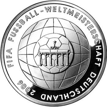 Fußball-Weltmeisterschaft 2006, 4. Ausgabe, 10-Euro-Silbermünze 2005, Stempelglanz