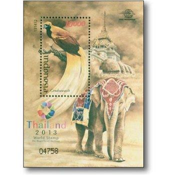 Internationale Briefmarkenausstellung Thailand 2013 - Briefmarken-Block postfrisch, Indonesien