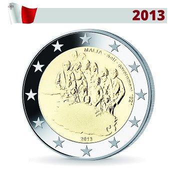 2 Euro Münze 2013, Einrichtung der Selbstverwaltung 1921, Malta
